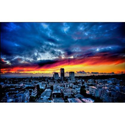 Πόλη - Ηλιοβασίλεμα
